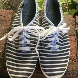 Keds Womens Champion Striped Canvas Sneaker